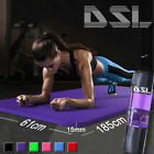 61x 185cm Yoga Mat 15mm Thick Gym Exercise Fitness Pilates Workout Mat Non Slip <br/> Storage Bag✔Carrying Strap✔Fast Delivery✔Top UK Seller✔