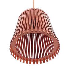 KAYA Pendelleuchte dunklem Holz Hängelampe,Holzleuchte, Modern Neu Design LED