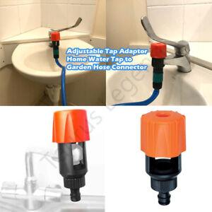 "Universal Tap Adaptor Kitchen Bathroom Water Tap To 1/2"" Garden Hose Connector"