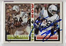 Indianapolis Colts EDGERRIN JAMES LENNY MOORE autograph signed card 2001 TOPPS