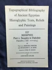 EGYPT Topographical Bibliography:Memphis Vol.3,Pt. 2: Saqqara to Dahshur/ PORTER