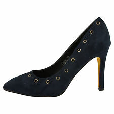 Vivienne Womens Mid High Heels Stilettos Ladies Pointed Toe Court Shoes Size New
