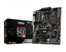 MSI B450-A PRO MAX Motherboard AMD Socket AM4 AMD B450 Chipset 6x SATA 6Gb/s