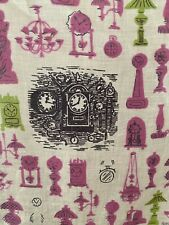 Tammis Keefe Signed Hankie-Antiques Road Show-Clocks Deep/Light Pink, Lime Green