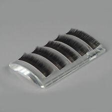 U Curved Eyelash Extension Transparent Glass Eye False Lash Stand Pallet HolderD