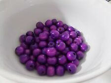 100pcs 12mm WOODEN Round Spacer Wood Beads -  LIGHT PURPLE
