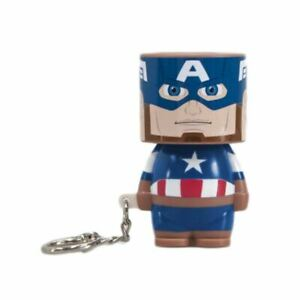 Marvel Avengers Captain America Clip-On Look-Alite LED Keyring Keychain