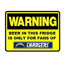 D122 Beer Fridge San Diego Chargers NFL Football Warning Refrigerator Magnet