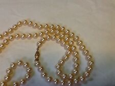 """Vintage 34"""" G. SILVER Knotted Faux Pearl Necklace"""