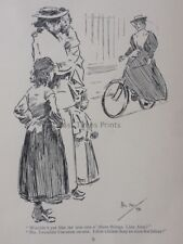Bicycle & Bike WOULD YOU LIKE A CYCLE? NOT NICE FOR LIDIES Antique Punch Cartoon