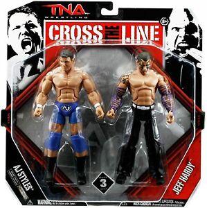 TNA Jeff Hardy Vs. AJ Styles Wrestling Action Figure Rare Set Figure UFC