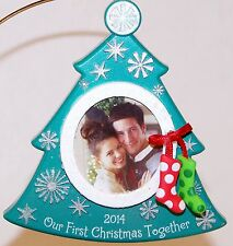 2014 NEW in Box Hallmark Ornament OUR FIRST CHRISTMAS TOGETHER Tree Photo Holder