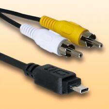 Av TV, cable de vídeo para Panasonic Lumix dmc-fz8 | longitud 1,8m | A/V cinch