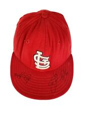 St. Louis Cardinals Fitted 7 1/8 Hat Autographed Kyle Lohse Schumaker Stavinoha