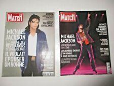 MICHAEL JACKSON French Paris Match magazine LOT of 2 rare 2009
