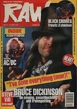 Bruce Dickinson on RAW Cover 1990 Steve Vai Electric Boys  Heart Metallica AC/DC