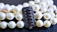 vintage Akoya Zucht Perlen Armband 835 Silber ca. 37,56 Gramm