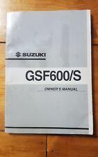 Suzuki GSF600/S K2  Owners Manual