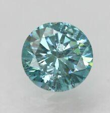 0.47 Carat Sky Blue Round Brilliant Natural Diamond 5.11mm