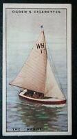 WENDY   Whitstable One-design  Racing Yacht   Original  1930's Vintage Card