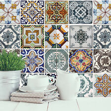Home Decoration Self Adhesive Wall Sticker - Mediterranean Tiles