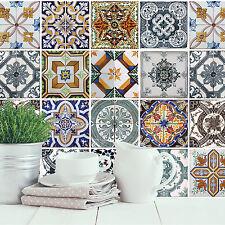 Home Decoration Self Adhesive Wall Sticker - Mediterranean Tiles 4pcs 54 x 54cm
