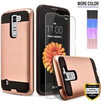For LG K7 Phone Case, Shockproof Cover+Screen Protector+Stylus