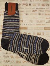 MISSONI Italian Sock Men's CA/09 Patterned Cashmere Size L 2/p Socks BNIP RRP£90