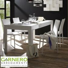 Tavolo moderno Sorrento 160 o 180 cm bianco laccato lucido sala da pranzo cucina