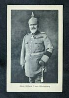 1917 Stuttgart Germany Wilhelm II, German Emperor RPPC Cover