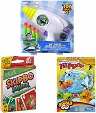 3 in 1 Bundle Pack - Hungry Hippos Grab & Go Game with Skip Bo Jr Card Game