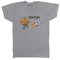 SPAIN 82 ESPANA INSPIRED WORLD CUP FOOTBALL SOCCER RETRO CULT MENS Grey T Shirt