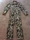 Vintage M-L Camouflage Walls Master Made Zippered Coveralls See Measurements