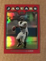 2008 Topps Chrome Red Refractor /25 #TC6 David Garrard Jacksonville Jaguars Card