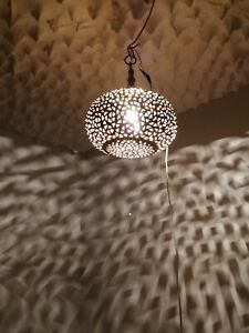 Moroccan round chandelier oriental brass hanging lamp Ceiling light pendent