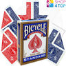 BICYCLE STANDARD BLUE DECK + 6 MAGIC TRICKS PLAYING CARDS BLANK DOUBLE BACK NEW