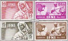 Ifni 124-127 postfris 1953 Locals Muziek
