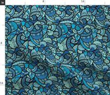 Ocean Paisley Water Fabric Printed by Spoonflower Bty