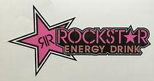 ROCKSTAR ENERGY DRINK PINK STICKER DECAL CAR BIKE 220mmx115mm FREE POSTAGE!
