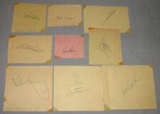 Original 1970's  Lot of 9 MLB Los Angeles Dodgers Signed Cut Squares