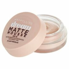 Maybelline Dream Matte MOUSSE Base 04 CLARO PORCELANA SPF 15 18ml (paquete de 3)