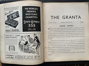 Cambridge University GRANTA 1937 FOUGASSE ADVERTS Guinness Magazine