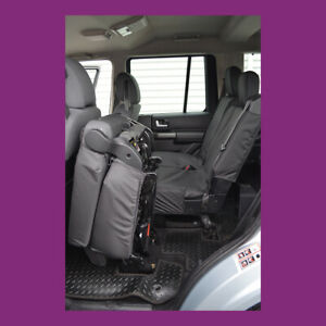 Land Rover Discovery 3 4 Tailored Waterproof Black Rear 3 Singles Seat Covers