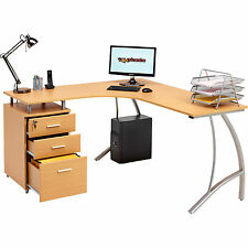 Large Corner Computer Desk A4 Filing Drawer for Home Office Piranha Regal PC28b