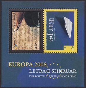 Kosovo, 2008, Europa CEPT, Letter, souvenir sheet, MNH