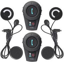 2 x 500M BT Motorcycle Bluetooth Multi Interphone Headsets Helmet Intercom + FM