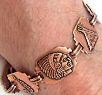 Copper Bracelet Linked Wheeler Detox Arthritis Healing Folklore NEW cb 275