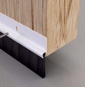 2 x Door Bottom Brush Draught Excluder Seal  - Pvc  White