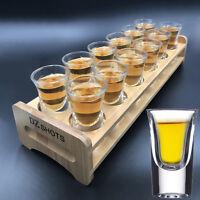 1oz Whiskey Glasses Set of 12 Clear Crystal Drinking Glass Bar Cup Tumbler Mug