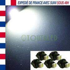 5X AMPOULE LAMPE VOYANT 12V T5 NEO 1 LED 5050 BLANC COMPTEUR CLIM TABLEAU BORD